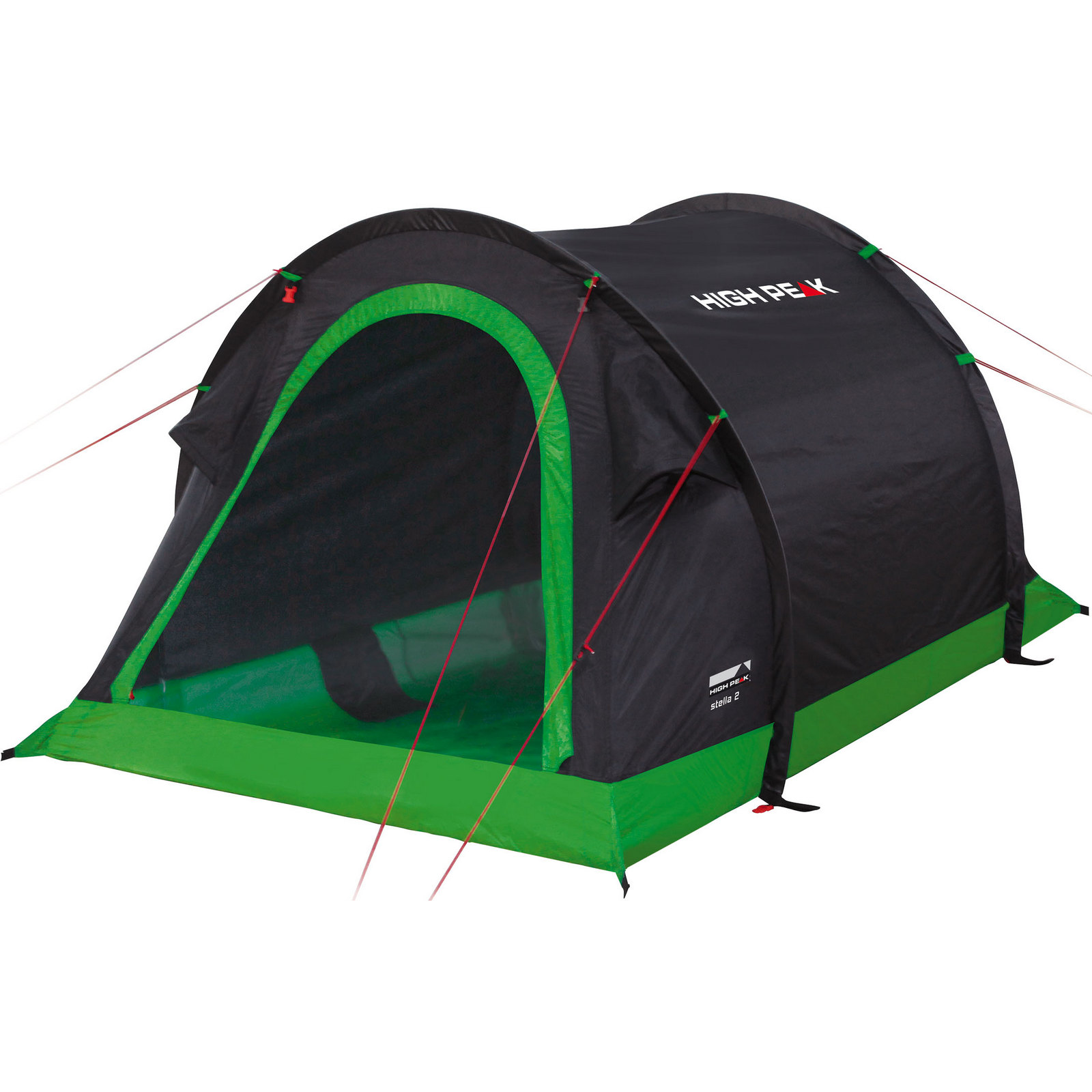 Купить Палатка High Peak Stella 2 (Black/Green)